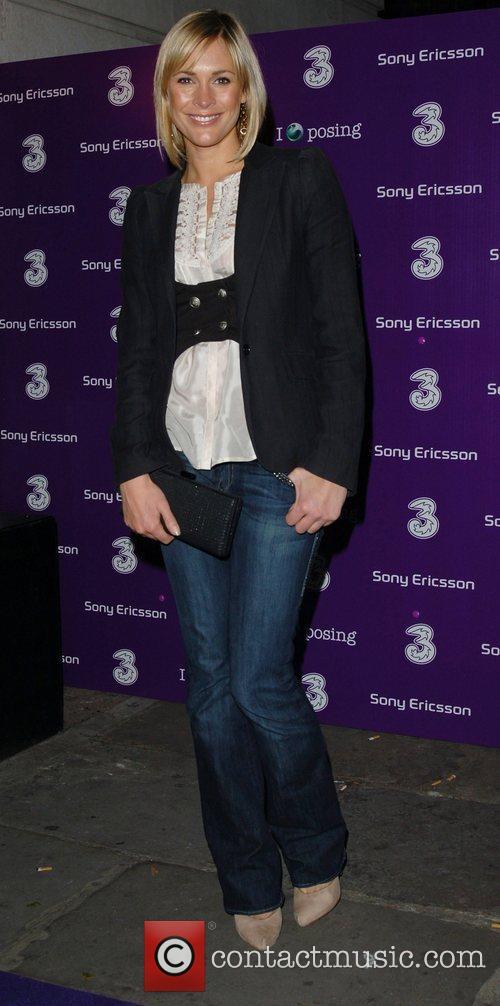 Jenni Falconer Sony Ericsson K770i phone - launch...
