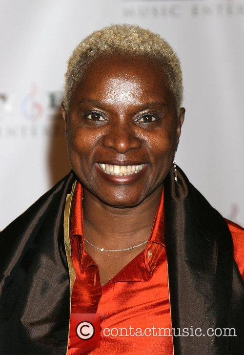 Angelique Kidjo Attending the Sony BMG Post Grammy...