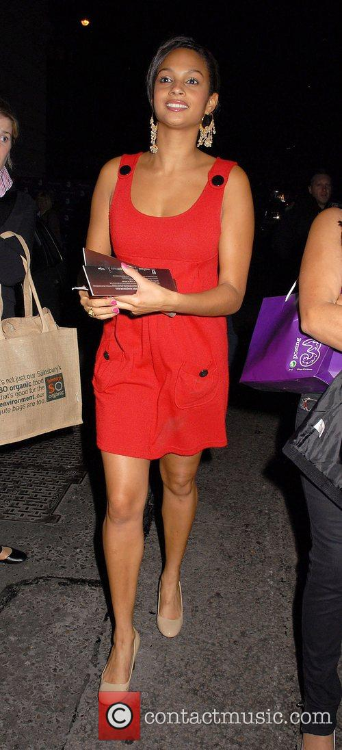 Alesha Dixon Sony Ericsson K770i phone launch party...