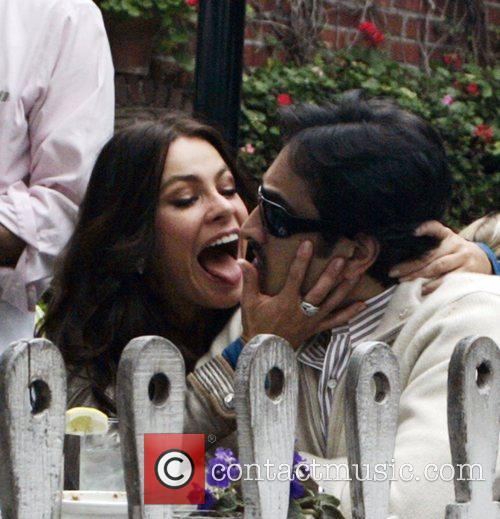 Actress Sophia Vergara having lunch at the Ivy...