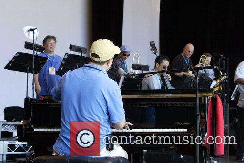 Rehearse ahead of their concert with legendary American...
