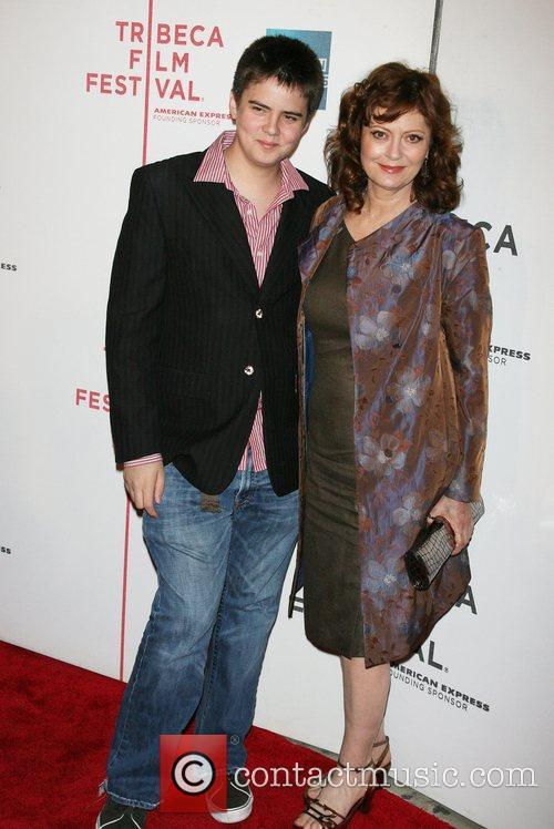 Miles Robbins and Susan Sarandon Tribeca Film Festival...