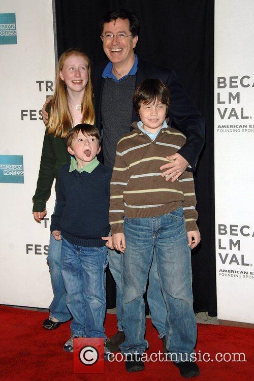 Steven Colbert and family Tribeca Film Festival 2008...