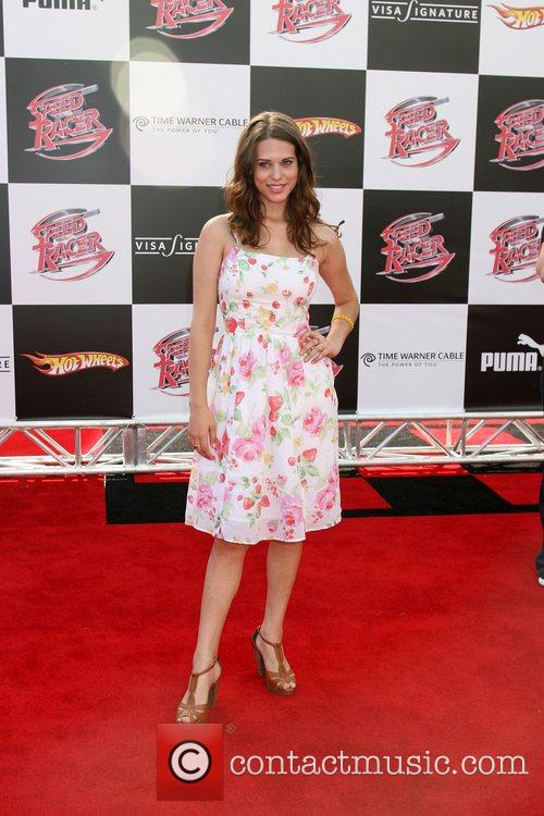 Lyndsy Fonseca 'Speed Racer' premiere held at the...
