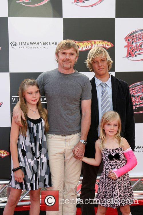 Rick Schroeder & Family 'Speed Racer' premiere held...