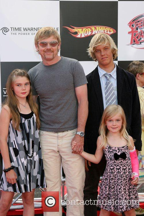 Rick Schroeder and Family 'Speed Racer' premiere held...