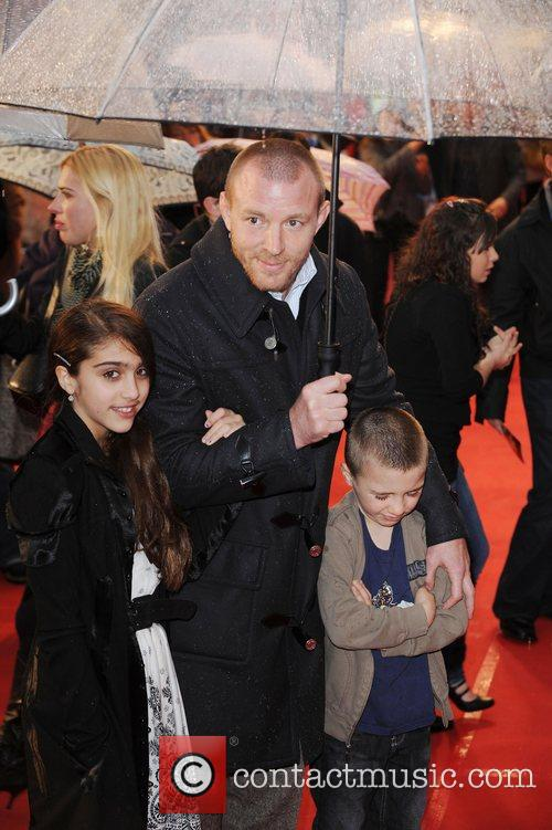 Guy Ruchie with Step-Daughter Lourdes Ciccone and Son...
