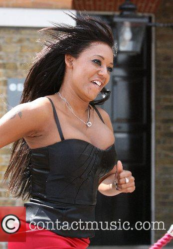 Melanie Brown arrives at the Royal Greenwich Observatory...