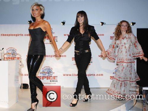 Victoria Beckham, Melanie Chisholm, Geri Halliwell The Spice...