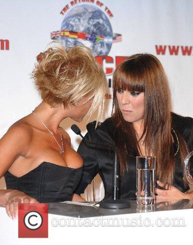 Melanie Chisholm, Victoria Beckham The Spice Girls announce...