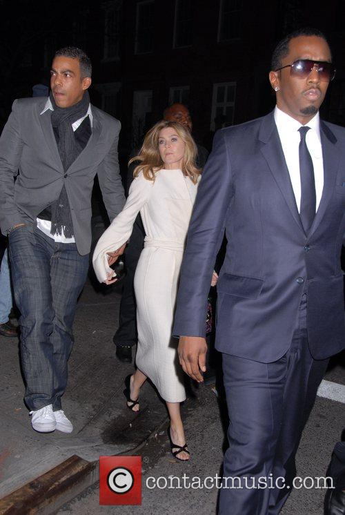 Chris Ivery, Ellen Pompeo and P Diddy leaving...