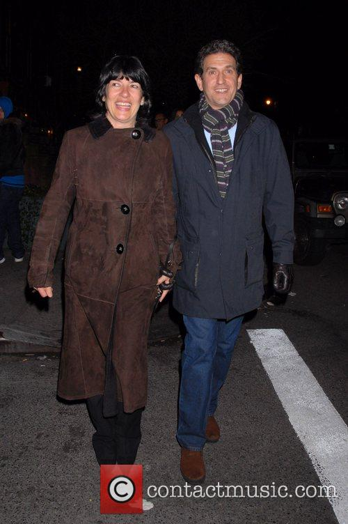 Christiane Amanpour and husband James Rubin outside the...