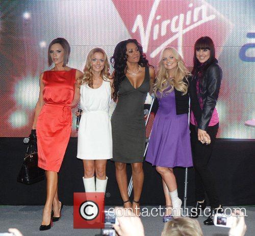 Victoria Beckham, Emma Bunton, Geri Halliwell and Virgin 2