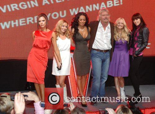 Victoria Beckham, Emma Bunton, Geri Halliwell, Richard Branson and Virgin 9