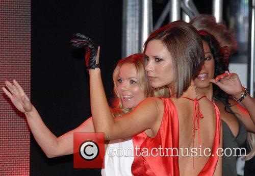 Victoria Beckham, Geri Halliwell and Melanie Brown Spice...