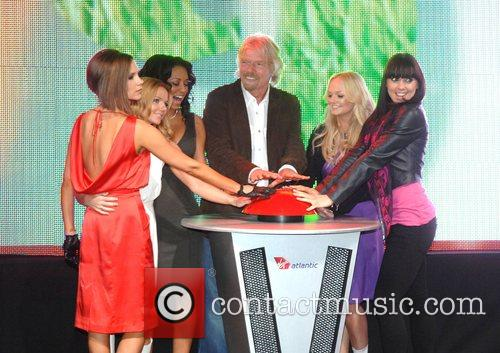 Victoria Beckham, Emma Bunton, Geri Halliwell, Richard Branson and Virgin 6