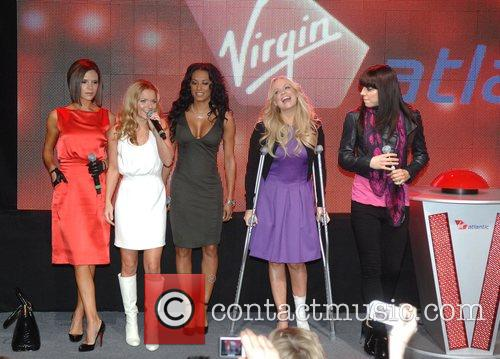 Victoria Beckham, Emma Bunton, Geri Halliwell and Virgin 7
