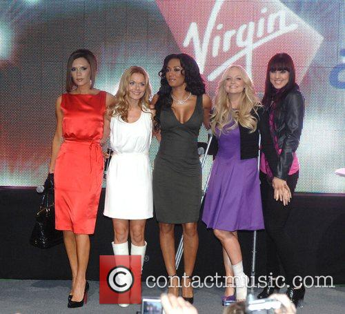 Victoria Beckham, Emma Bunton, Geri Halliwell and Virgin 6