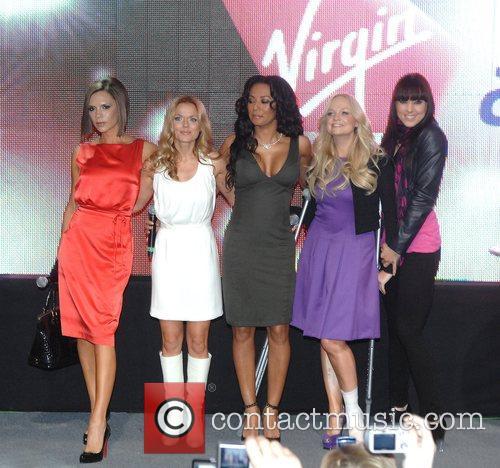Victoria Beckham, Emma Bunton, Geri Halliwell and Virgin 5