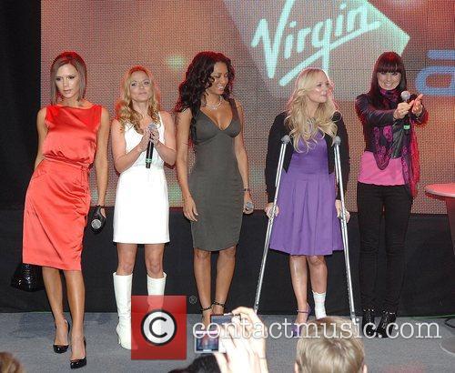 Victoria Beckham, Emma Bunton, Geri Halliwell and Virgin 8