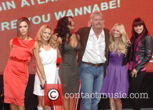 Victoria Beckham, Emma Bunton, Geri Halliwell and Virgin 20