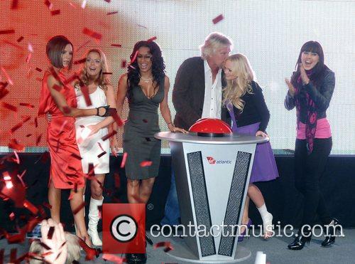 Victoria Beckham, Emma Bunton, Geri Halliwell and Virgin 1