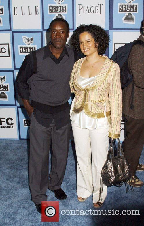 Don Cheadle and wife 2008 Film Independent's Spirit...