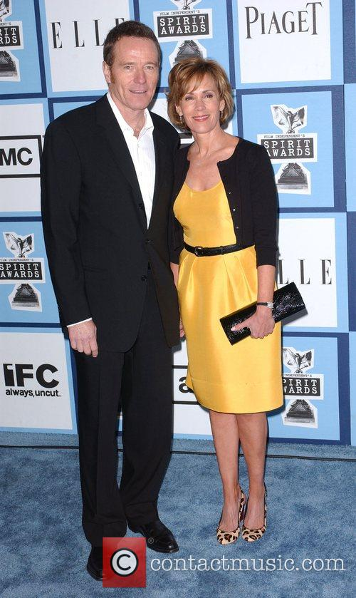 Bryan Cranston and wife 2008 Film Independent's Spirit...