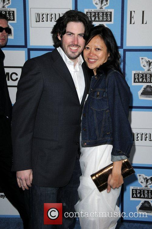 Jason Reitman and wife Michelle Lee 2008 Film...