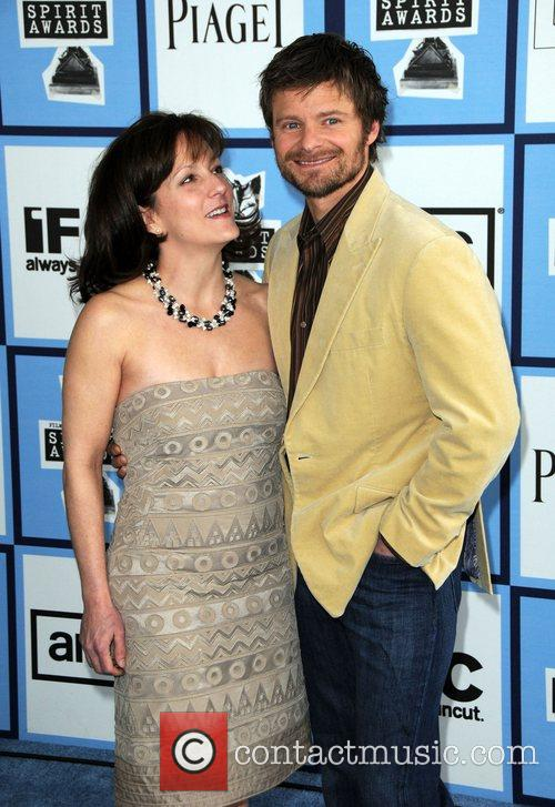 Steve Zahn and wife 2008 Film Independent's Spirit...