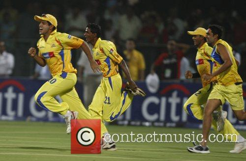 Chennai Super Kings player celebrates victory match against...