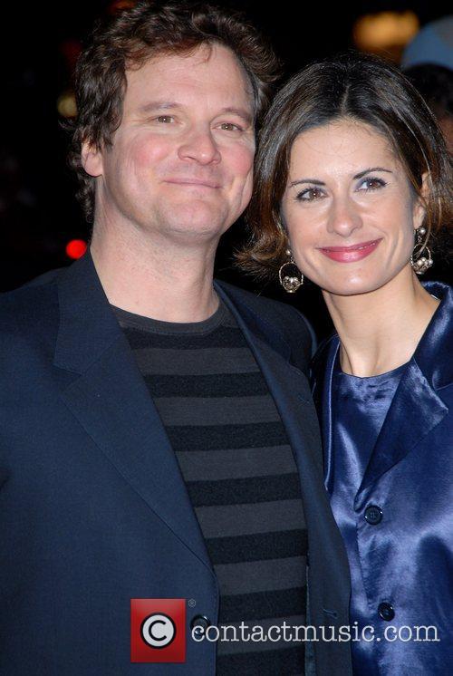Colin Firth and wife Livia Giuggioli Premiere of...
