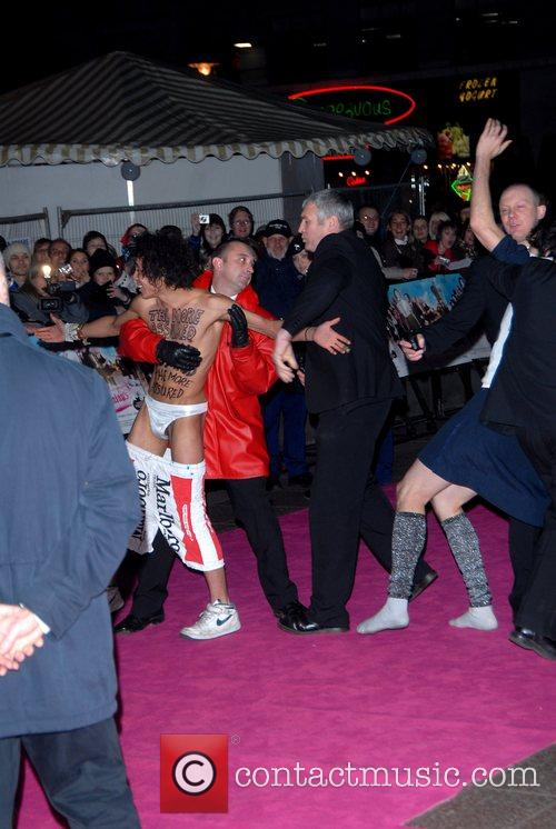 Streakers Premiere of 'St Trinian's' at Empire, Leicester...
