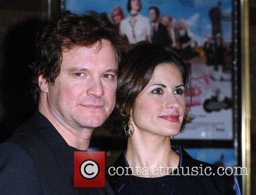 Colin Firth and Livia Giuggioli Premiere of 'St...