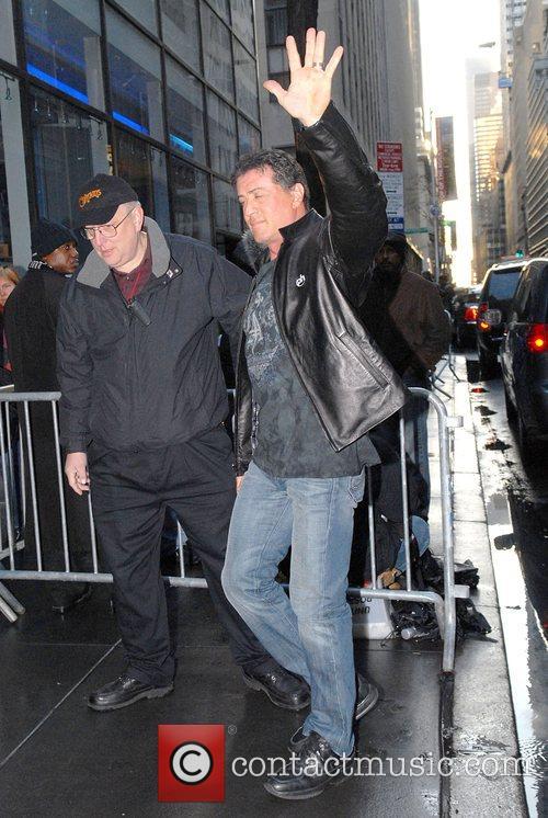 Sylvester Stallone walking in New York, he denied...
