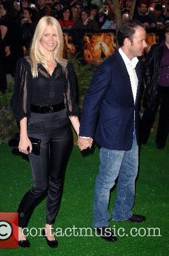 Claudia Schiffer and Matthew Vaughn UK film premiere...