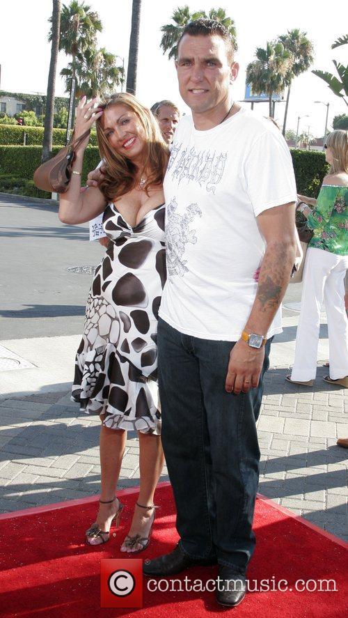 Vinnie Jones and wife Los Angeles Premiere of...