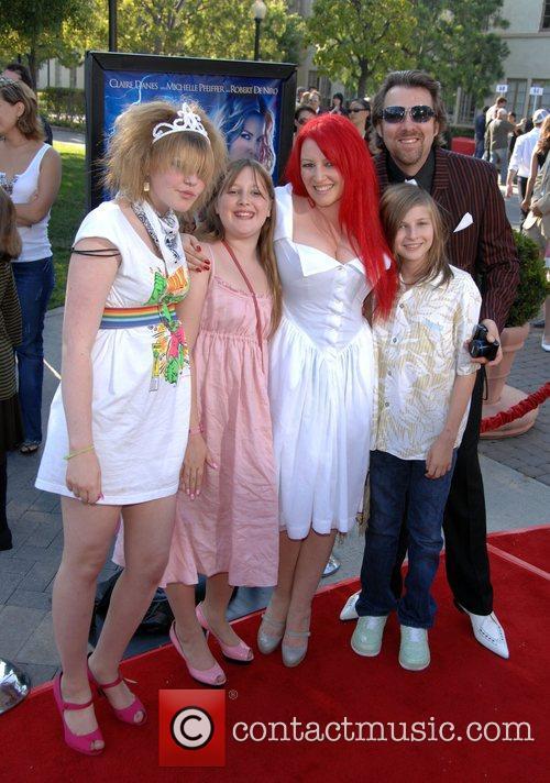 Jane Goldman, Jonathan Ross and their children Los...
