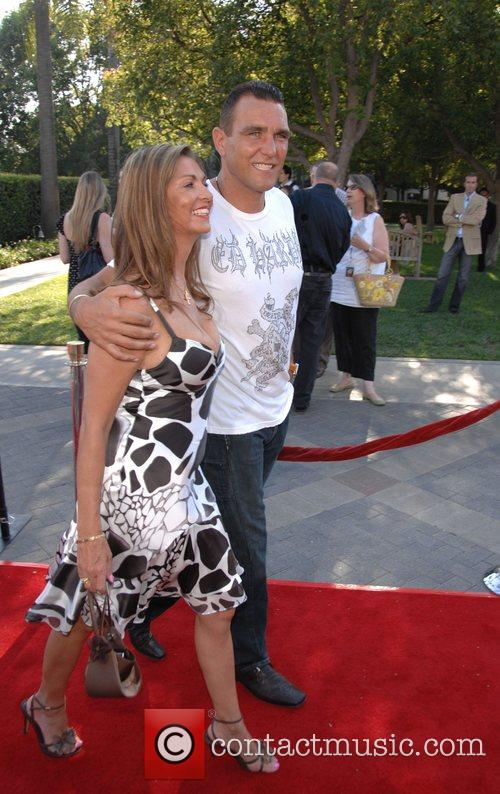 Vinnie Jones and wife Tanya Los Angeles Premiere...