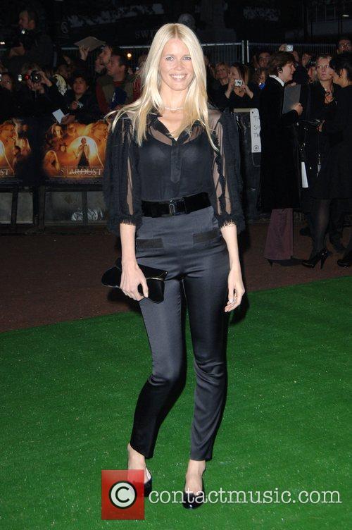 Claudia Schiffer at 'Stardust' - UK film premiere...