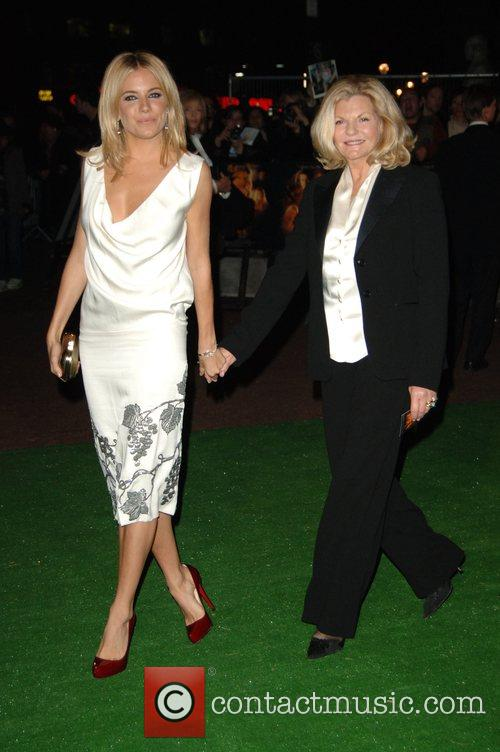 Sienna Miller with her mother Jo Miller at...
