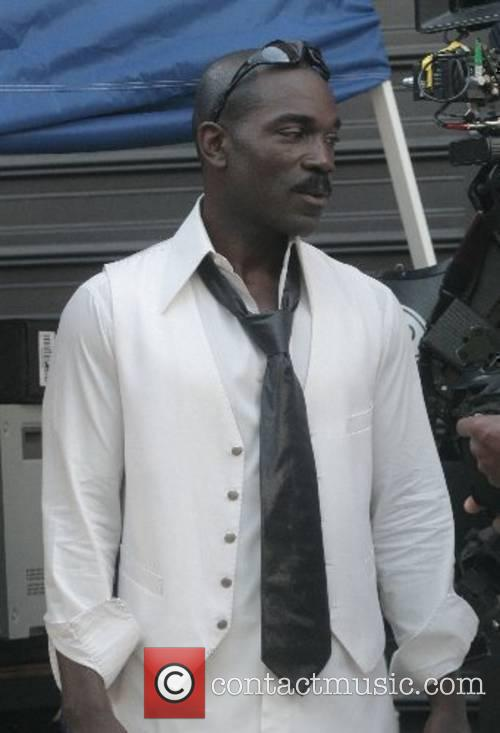 Eddie Murphy's double on the movie set of...