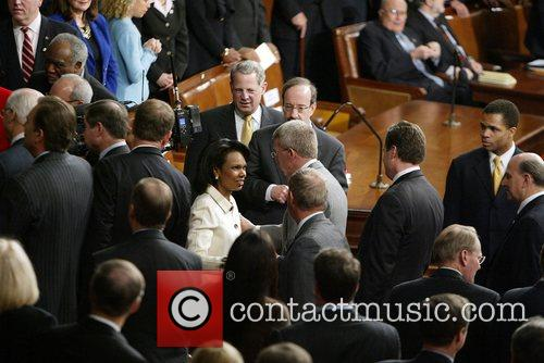 Condaleeza Rice inside the House Chamber at the...
