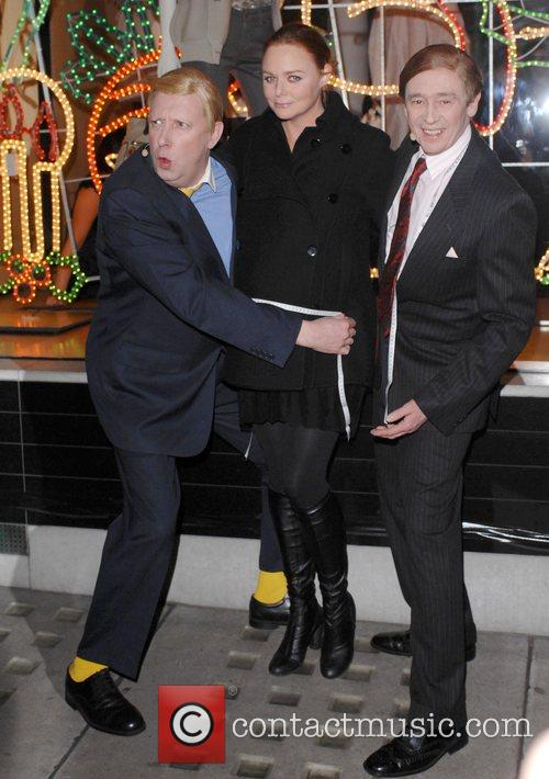 Stella McCartney with Paul Whitehouse and Mark Williams...