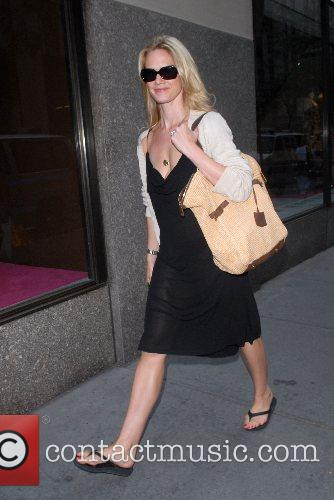 Actress Stephanie March out an about in Midtown