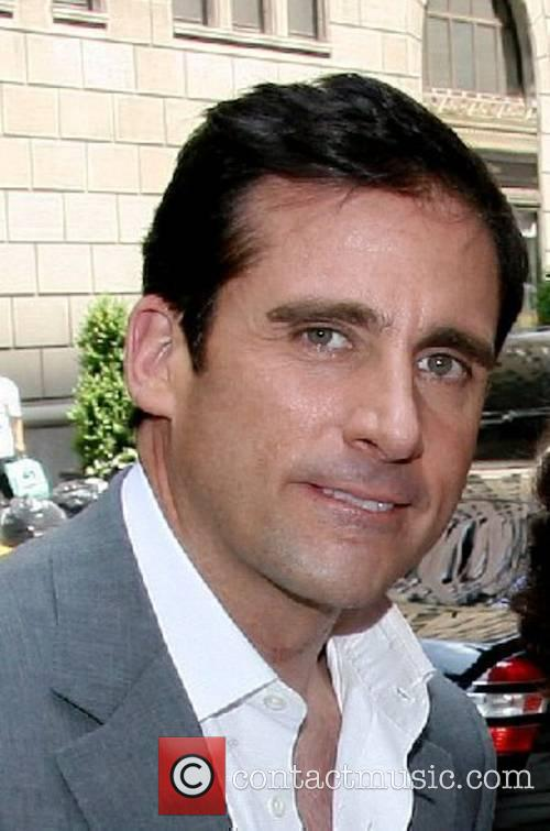 Comedian, actor Steve Carell arriving at his hotel...