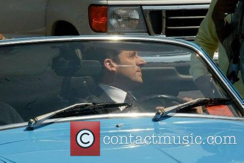 Steve Carell at the film set of his...