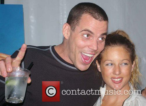 The unveiling of PETA advertisement featuring Steve-O at...