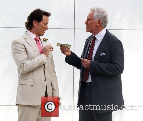Steven Weber shooting on location on Rodeo Drive
