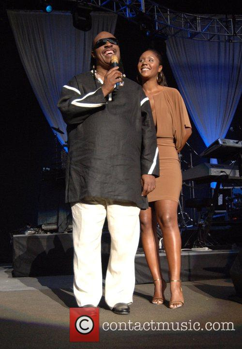 Stevie Wonder and Daughter Aisha Morris 2